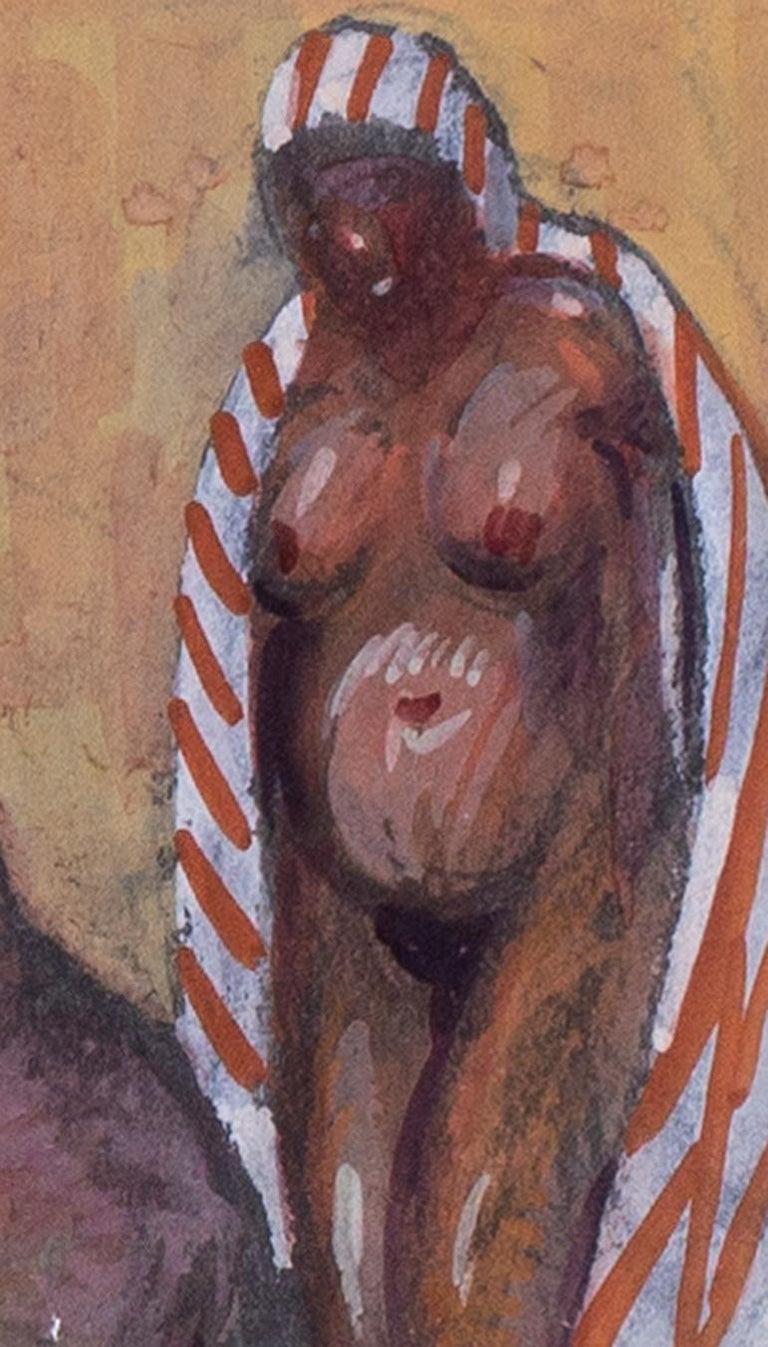 Vladimir Pavlovich Nechoumoff (Russian, c. 1900 – 1977) Turkish bath scene in Istanbul Watercolour/ gouache and pencil on paper 5.1/2 x 8.1/2 in. (14 x 21.4 cm.) Figurative painter, illustrator Vladimir Pavlovich Nechoumoff studied at the Kharkov