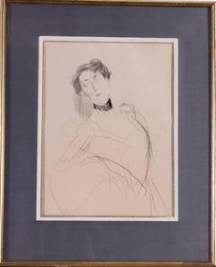 Giovanni Boldini drawing of a lady, Italian 19th Century
