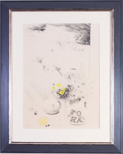 Mary Fedden, British 20th Century drawing 'Still life with cow'
