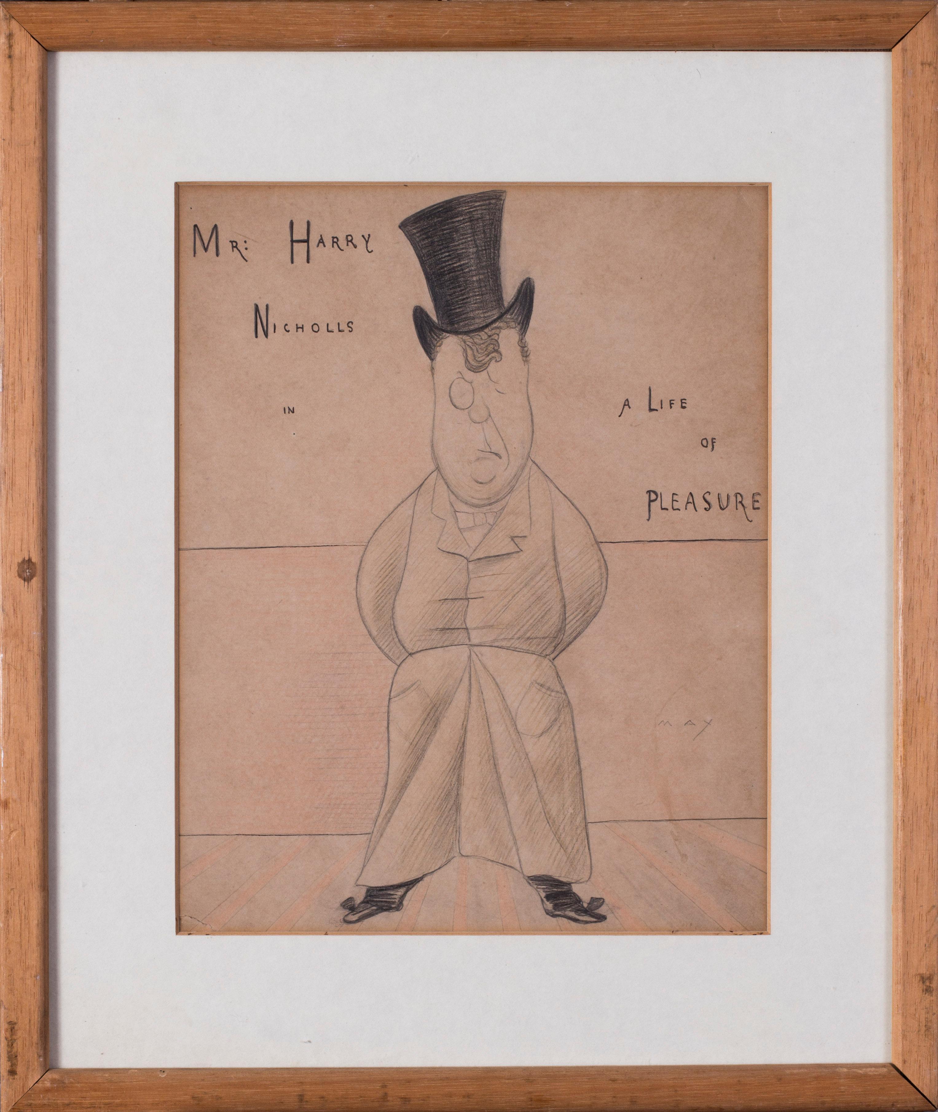 Max Beerbohm, 19th Century British caricature of Mr Harry Nichols