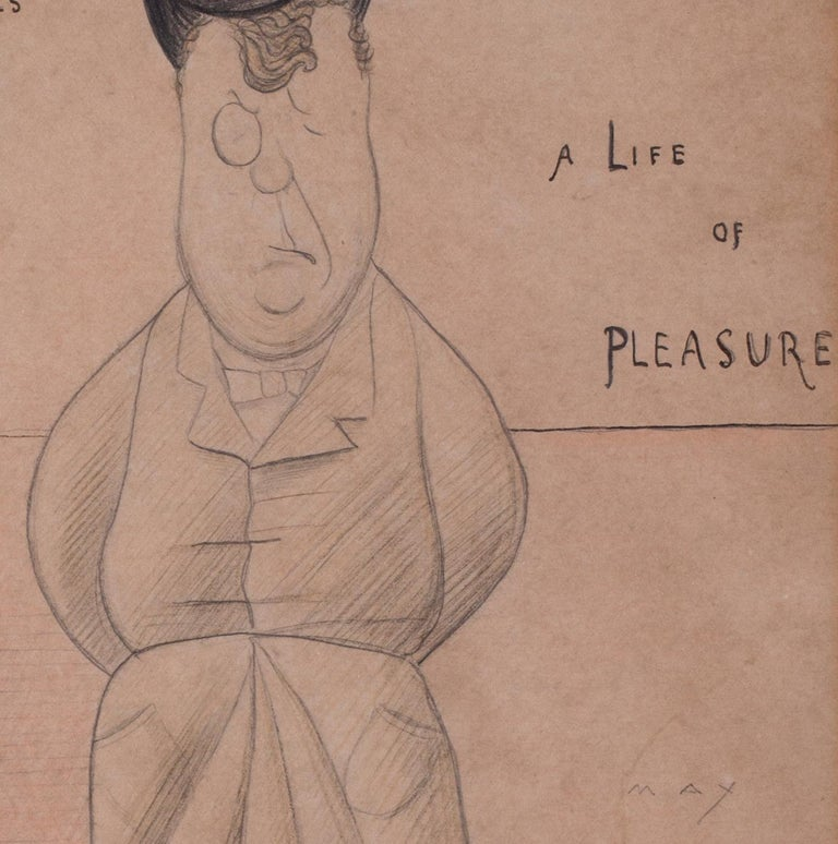 Max Beerbohm (British, 1872 – 1956) Mr Harry Nicholls (In a life of pleasure), 1893 Signed 'MAX' (lower right), inscribed with title in ink Pencil on paper with evidence of some watercolour 11 x 8.5/8 in. (28 x 22 cm.)  Henry Thomas
