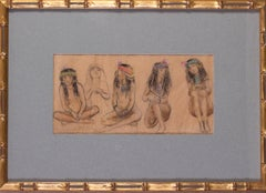 Georges Antoine Rochegrosse, three egyptian girls, 19th Century