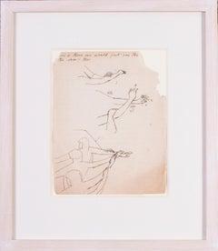 Stanley Spencer, original British drawing, Studies of Arms,