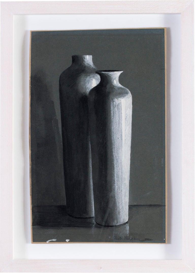 Eliot Hodgkin, British 20th Century watercolour of two vases - Art by Eliot Hodgkin