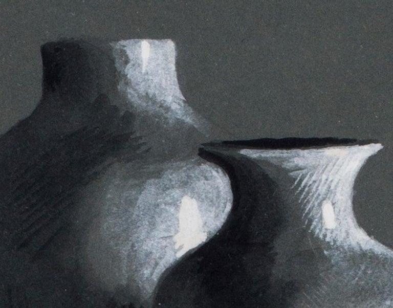 Eliot Hodgkin, British 20th Century watercolour of two vases - Academic Art by Eliot Hodgkin