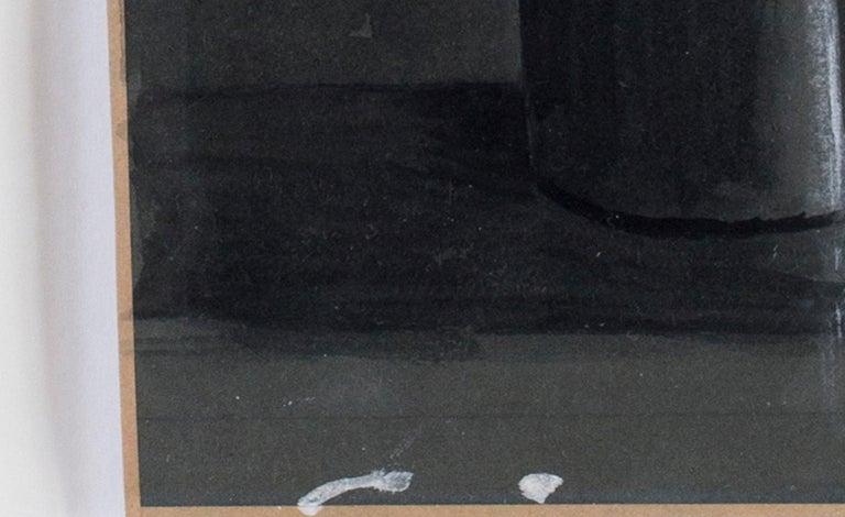 Eliot Hodgkin, British 20th Century watercolour of two vases - Gray Still-Life by Eliot Hodgkin