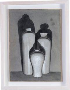 Eliot Hodgkin British watercolour of three vases