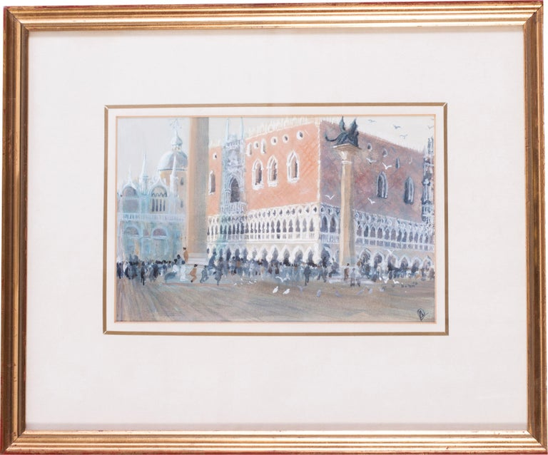 San Marco, Venice, circa 1986 watercolour by British artist John Doyle - Art by John Doyle