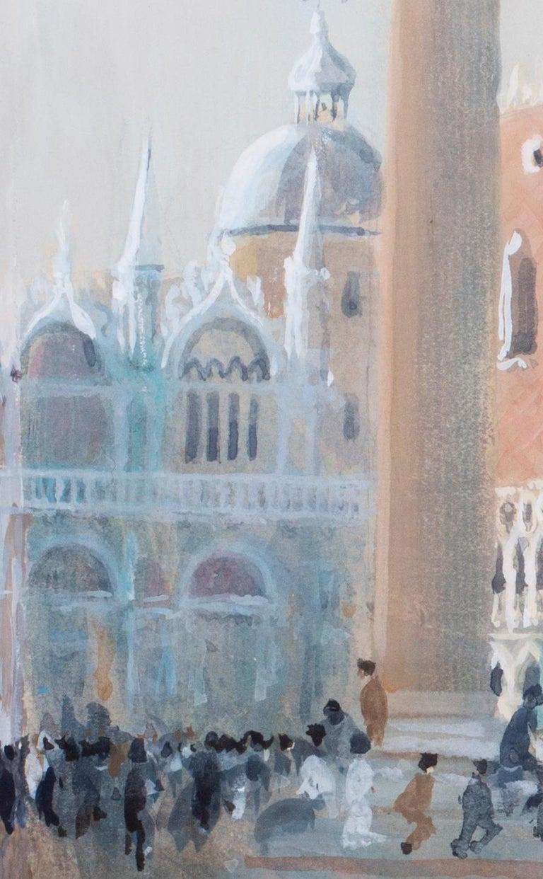 San Marco, Venice, circa 1986 watercolour by British artist John Doyle - Impressionist Art by John Doyle