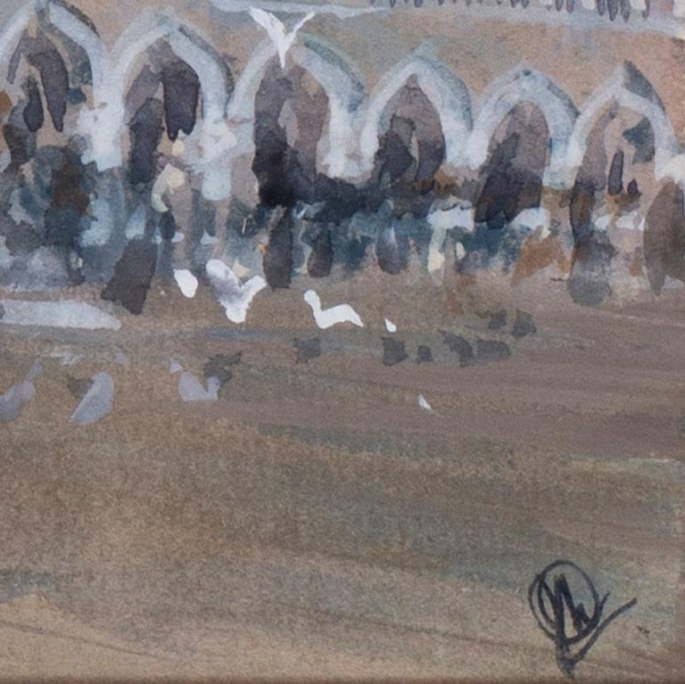 John Doyle MBE, PPRWS (British, b. 1928) San Marco, Venice, circa 1986 Acrylic and watercolour on paper Monogrammed (lower right) 6.1/4 x 9.7/8 in. (15.8 x 25 cm.)  Provenance: The Catto Gallery, London  John Doyle was born in Siddenham Hill, though