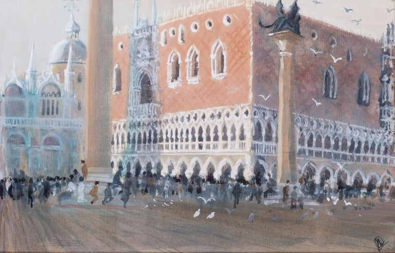 San Marco, Venice, circa 1986 watercolour by British artist John Doyle For Sale 1