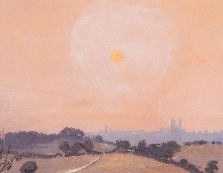 Siena sunset, Italy, watercolour by British artist John Doyle circa 1986 - Impressionist Art by John Doyle
