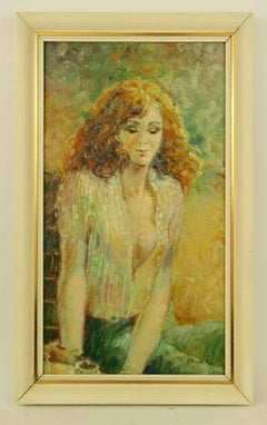 Impressionist Female  Pensive Moment Figurative Painting