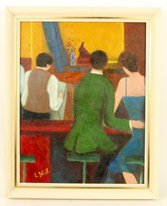 Bar Conversation Painting