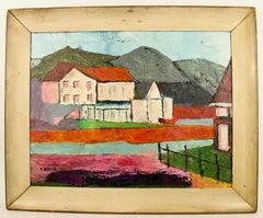Tuscan  Village Impressionist Landscape  Painting