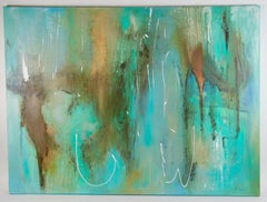 Large Scale Acquamarine Abstract Painting