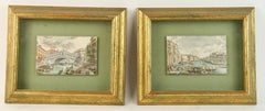 Pair Italian Hand Colored  Engraving