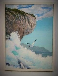 Pacific Ocean Cliff Side Landscape