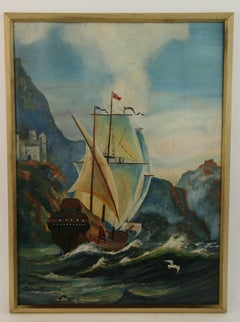 Spanish Galleon Seascape