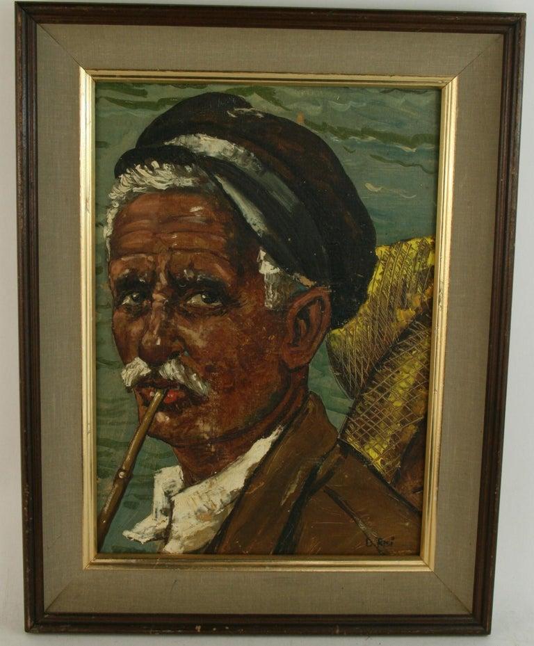 D.Risi Portrait Painting -   Italian Sea Captain Figurative Painting