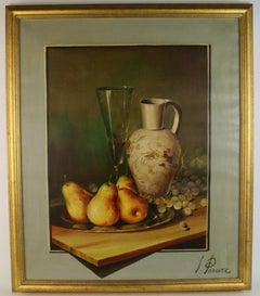 Impressionist Still Life with Pears and Grapes