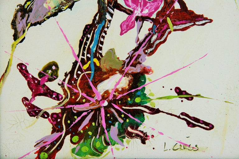 Abstract Flowers - Painting by L.Cress