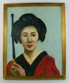 Japanese Female  Portrait Painting