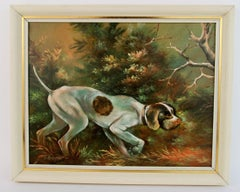 Hunting  Dog  Landscape Painting