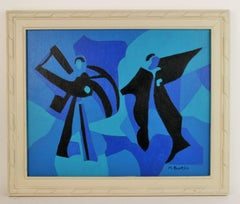 Surreal Dancing Figurative Abstract Painting