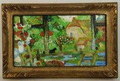 Gazing Thru The Window French  Landscape