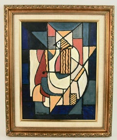 Bird Man Abstract Cubic  Painting