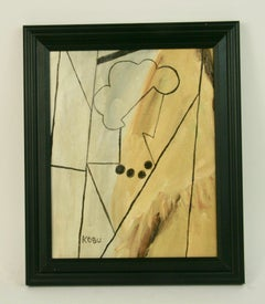 Woman with Black Necklace Cubic Abstract