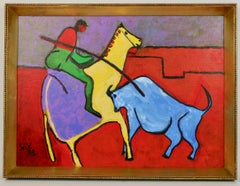 Fauvist Abstract Bull Fight