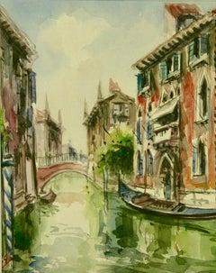 Venice Vintage Canal Scene