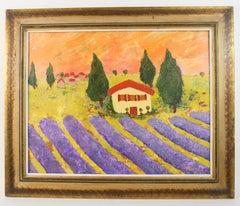 Provence Lavender  Field Landscape