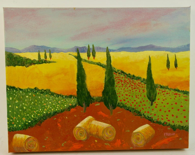 Unknown Summer In Tuscany Landscape Painting For Sale At 1stdibs