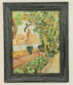 Mediterranean Landscape Watercolor