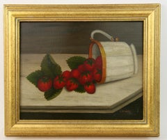 Strawberry Still-life Painting 1920's
