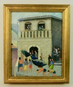 Italian Village Painting