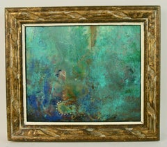 Blue Lush Abstract Painting