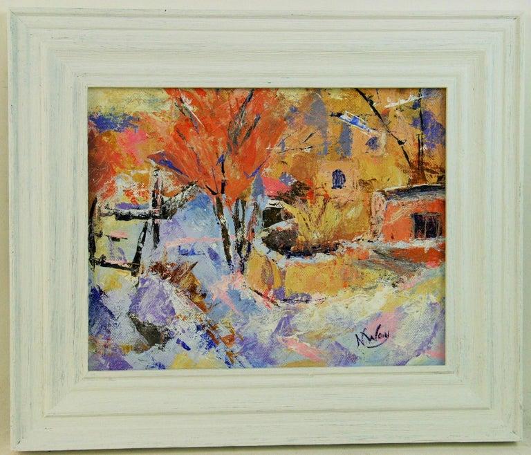 N.Way Landscape Painting - French Impressionist Village Landscape