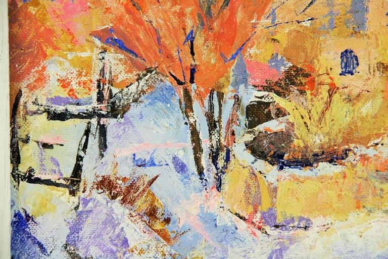 French Impressionist Village Landscape For Sale 1