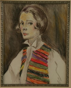 Young Woman with Colorful Vest