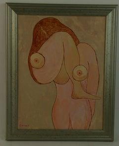 Surreal Female Nude Figure Painting
