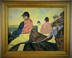 At the Races Equestrian Painting
