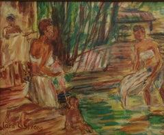 Bathers at the Stream Figurative Landscape