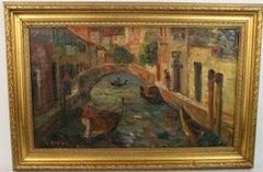 Venice Canal Scene Circa 1900