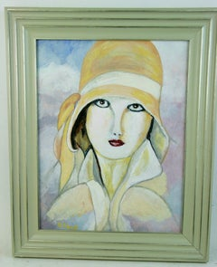 Deco Female Portrait Painting