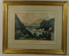 Up The Hudson Hand Colored Engraving