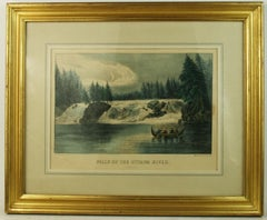 Falls of the Ottowa River hand colored engraving